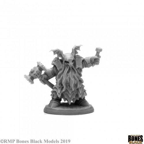 Reaper Miniatures BONES BLACK: IRONTONGUE PRIEST