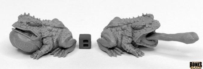 Reaper Miniatures BONES BLACK: GIANT FROGS (2)