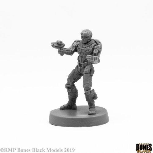 Reaper Miniatures BONES BLACK: BLOOD NEBULA MERCENARY