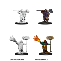 MINIS: D&D: DWARF MALE CLERIC (WARHAMMERS)