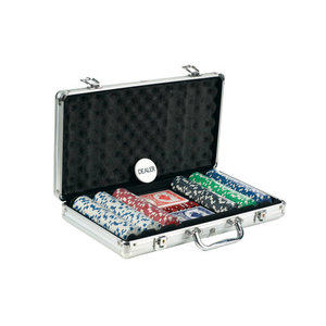 CHH QUALITY PRODUCTS POKER CHIP SET 300 11G w/DICE PRINT in ALUMINUM CASE