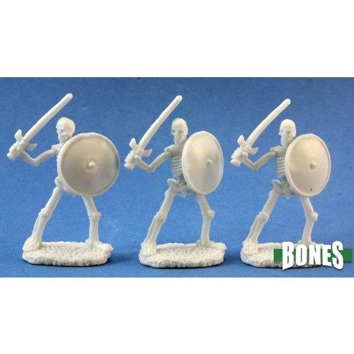 Reaper Miniatures BONES: SKELETAL SWORDSMEN (3)