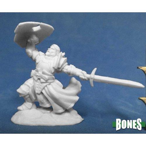 Reaper Miniatures BONES: SIR RATHAN KRANSHEL, HUMAN FIGHTER