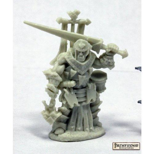 Reaper Miniatures BONES: PATHFINDER: OLOCH, ICONIC WARPRIEST