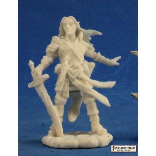 Reaper Miniatures BONES: PATHFINDER: ARAEL, HALF ELF CLERIC