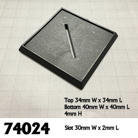 Reaper Miniatures BASES: 40mm SQUARE (6)