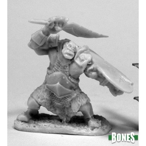 Reaper Miniatures BONES: ORC SLICER (SCIMITAR & SHIELD)