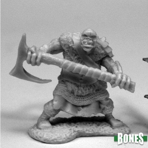 Reaper Miniatures BONES: ORC CHOPPER (2-HANDED AXE)