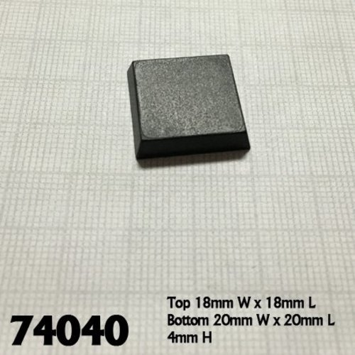 Reaper Miniatures BASES: 20mm SQUARE (25)