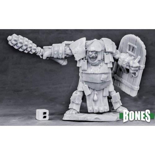 Reaper Miniatures BONES: OGRE CHIEFTAIN (CLUB & SHIELD)