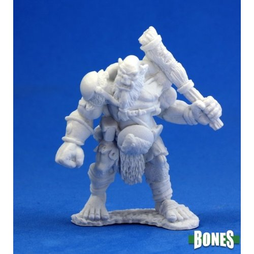 Reaper Miniatures BONES: OGRE CHIEFTAIN (LARGE CLUB)