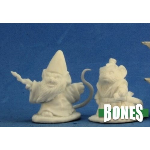 Reaper Miniatures BONES: MOUSLING SORCERER & SAMURAI