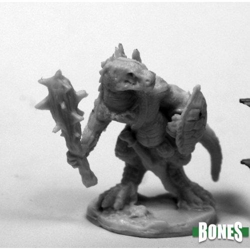Reaper Miniatures BONES: LIZARDMAN WITH CLUB & SHIELD