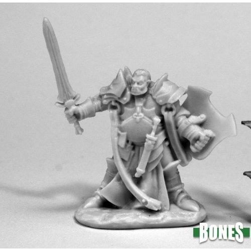 Reaper Miniatures BONES: JURDEN, HALF ORC PALADIN