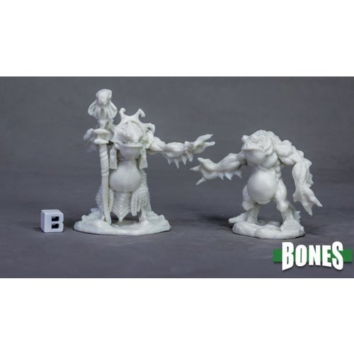Reaper Miniatures BONES: DEEP ONES PRIEST & SERVITOR