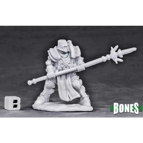 Reaper Miniatures BONES: CRUSADER DEFENDER (SPEAR)