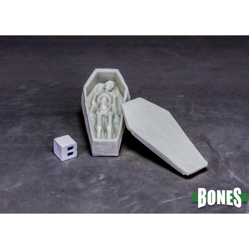 Reaper Miniatures BONES: COFFIN AND CORPSE