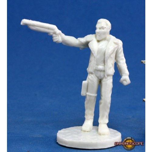 Reaper Miniatures BONES: CHRONOSCOPE: REX, DARK FUTURE HERO