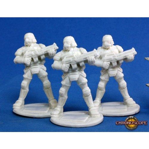 Reaper Miniatures BONES: CHRONOSCOPE: NOVA CORP SOLDIER (3)