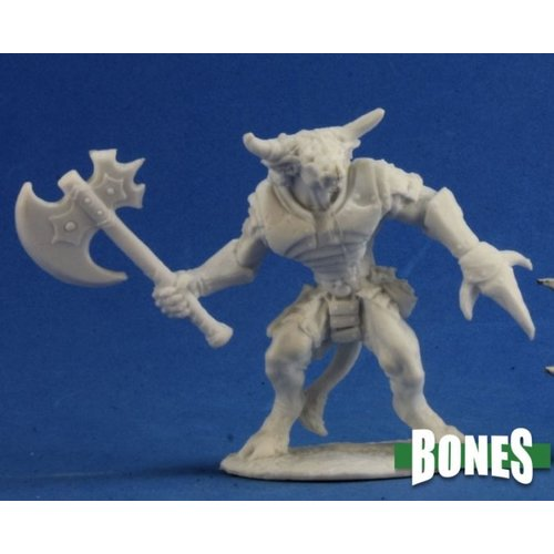 Reaper Miniatures BONES: BRONZEHEART MINOTAUR HERO