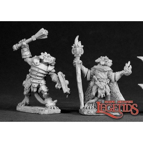 Reaper Miniatures KOBOLD CHAMPION & SORCERER