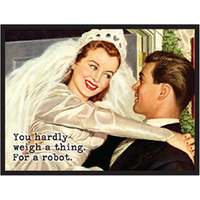 ROBOT BRIDE MAGNET