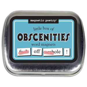 MAGNETIC POETRY MAGNETIC POETRY LITTLE BOX OF OBSCENITIES