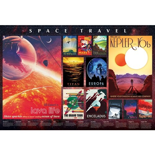OUTSET MEDIA CH2000 SPACE TRAVEL POSTERS