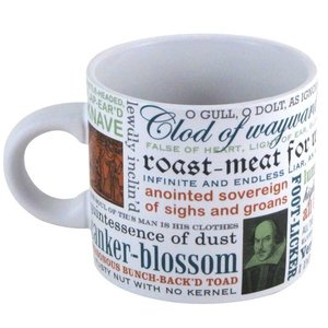 UNEMPLOYED PHILOSOPHERS MUG-SHAKESPEAREAN INSULTS