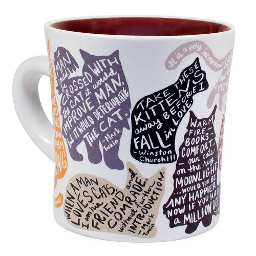 UNEMPLOYED PHILOSOPHERS MUG: LITERARY CAT