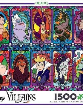 CEACO CC1500 DISNEY STAINED GLASS VILLAINS