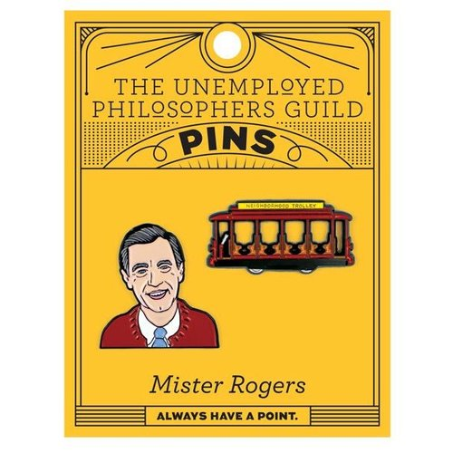 UNEMPLOYED PHILOSOPHERS PIN SET: MISTER ROGERS