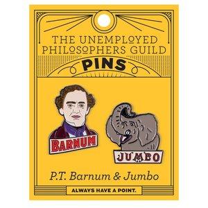 UNEMPLOYED PHILOSOPHERS PIN SET: P.T. BARNUM AND JUMBO