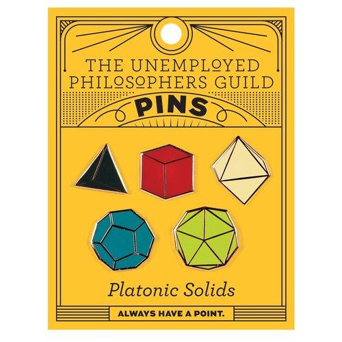 UNEMPLOYED PHILOSOPHERS PIN: PLATONIC SOLIDS SET