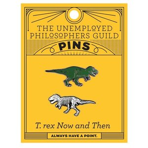 UNEMPLOYED PHILOSOPHERS PIN: T. REX & FOSSIL SET