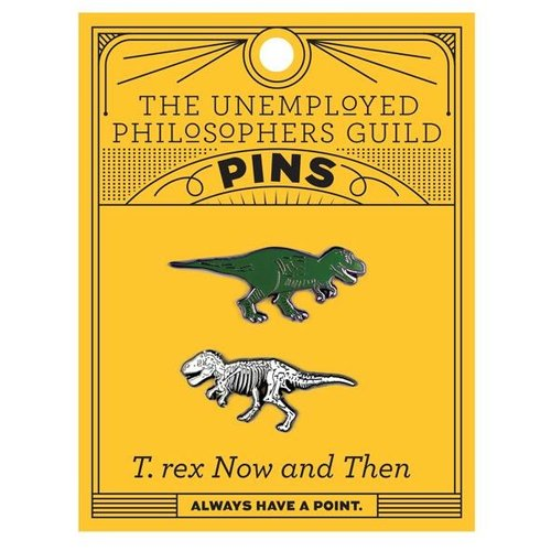 UNEMPLOYED PHILOSOPHERS PIN: T. REX & FOSSIL SET