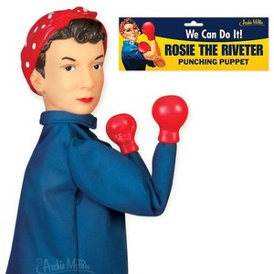 Archie McPhee ROSIE THE RIVETER PUNCHING PUPPET