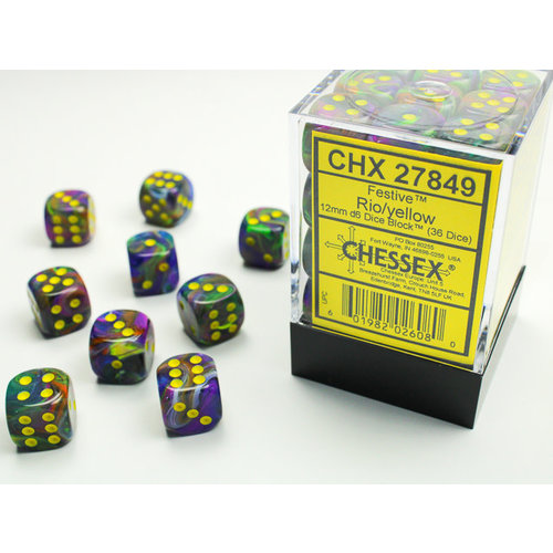 Chessex DICE SET 12mm FESTIVE RIO