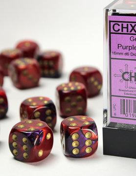 Chessex DICE SET 16mm GEMINI PURP-RED