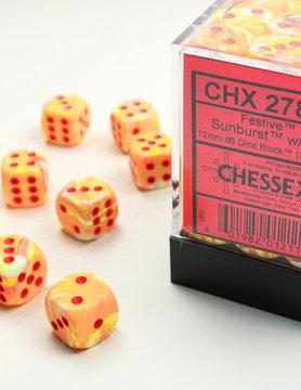 Chessex DICE SET 12mm FESTIVE SUNBURST