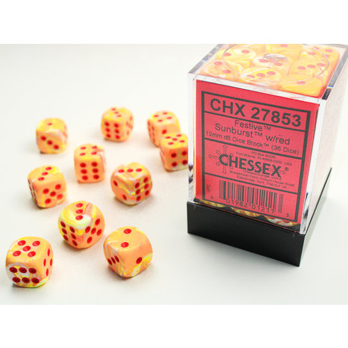 Chessex DICE SET 12mm FESTIVE SUNBURST