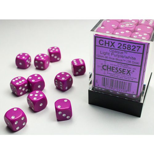 Chessex DICE SET 12mm OPAQUE LT PURPLE