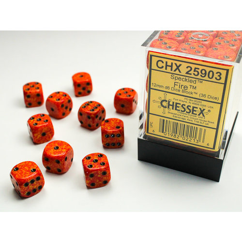 Chessex DICE SET 12mm SPECKLED FIRE