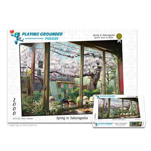 PLAYING GROUNDED PUZZLES PG1000 SPRING IN SAKURAGAOKA