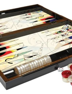 "Worldwise Imports BACKGAMMON 20"" KANDINSKY"