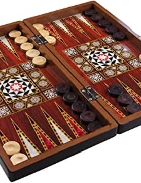 "Worldwise Imports BACKGAMMON 15"" TURKISH PLASTIC"