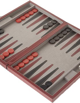 "CHH QUALITY PRODUCTS BACKGAMMON 15"" BLACK/RED"