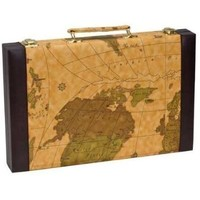 "BACKGAMMON 15"" BROWN MAP"