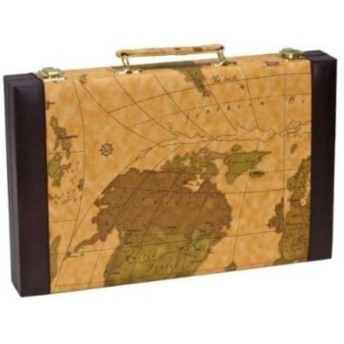 """CHH Quality Products BACKGAMMON 15"""" BROWN MAP"""