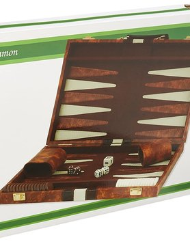 "CHH QUALITY PRODUCTS BACKGAMMON 18"" BROWN & WHITE"